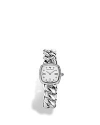 David Yurman Albion Stainless Steel Watch With Diamonds 27Mm White Silver