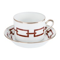 Richard Ginori 1735 Catene Scarlatto Teacup And Saucer