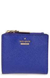 Kate Spade Women's New York Cameron Street Adalyn Slim Leather Wallet Blue Green Nightlife Blue