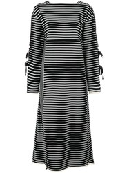 3.1 Phillip Lim Side Tie Long Sleeve Dress Cotton Nylon Polyester Wool S Black