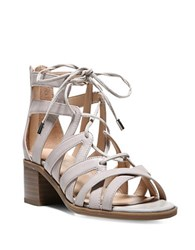 Franco Sarto Ocean Leather Strappy Sandals Taupe