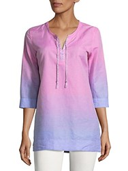 Robert Graham Isabelle Long Sleeve Tunic Pink