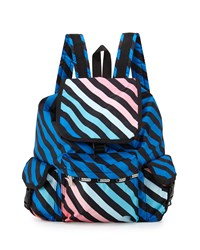 Le Sport Sac Lesportsac Voyager Striped Flap Top Backpack Ace