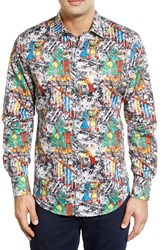 Men's Robert Graham 'It's A Wrap' Classic Fit Digital Print Sport Shirt