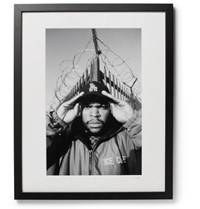Sonic Editions Framed 1992 Ice Cube Print 16 X 20 Black
