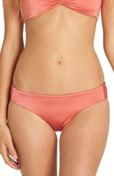 Billabong Women's Sol Searcher Lowrider Bikini Bottoms Rose Blush