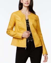 Alfani Petite Perforated Faux Leather Jacket Only At Macy's