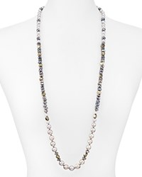 Chan Luu Cultured Freshwater Pearl And Faceted Gemstone Bead Necklace 32 Gray Mix
