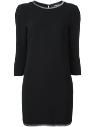 Dsquared2 Razor Plaque Hem Dress Black