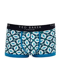 Ted Baker Litleo Geo Classic Fit Boxer Shorts Blue