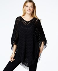 Styleandco. Style And Co. V Neck Fringed Poncho Only At Macy's