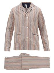 Paul Smith Signature Striped Cotton Poplin Pyjamas Multi