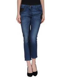 Pinko Grey Denim Capris Blue