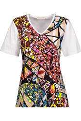 Emilio Pucci Printed Cotton Jersey T Shirt White