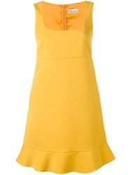 Red Valentino Fitted Dress Yellow Orange