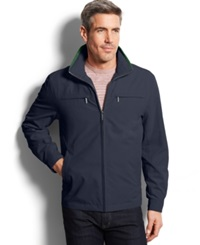 London Fog Litchfield Microfiber Hipster Jacket Navy