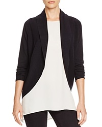 T Tahari Gloria Shawl Collar Cardigan Black