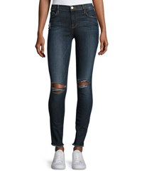 Frame Le Skinny De Jeanne Raw Edge Jeans King's Imperial Navy