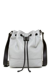 L.A.M.B. Haddie Leather Bucket Bag Gray