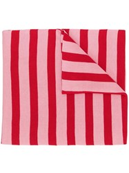 Sonia Rykiel Striped Scarf Red