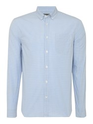 Linea Long Sleeve Gingham Shirt Blue