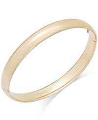 Macy's High Polish Bangle Bracelet In 14K Gold Yellow Gold