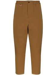 Sophnet. Cropped Chino Trousers Brown