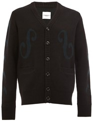 The Soloist Embroidered Button Cardigan Black