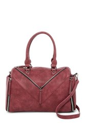 Urban Expressions Reyna Faux Leather Satchel Purple