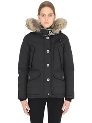 Parajumpers Musher Down Jacket With Raccoon Fur