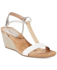Style And Co. Mulan Wedge Sandals Women's Shoes French Vanilla