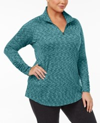 Columbia Plus Size Outerspaced Space Dyed Half Zip Top Cloudburst