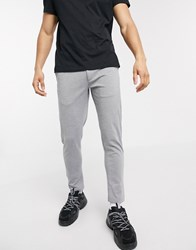 Solid Trousers In Grey