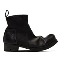 Boris Bidjan Saberi Black Zip Up Boots