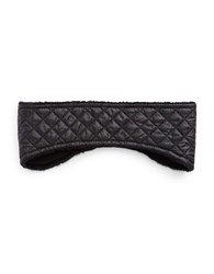 Ugg Faux Fur Lined Headband Black