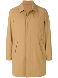 Paolo Pecora Single Breasted Coat Nude And Neutrals