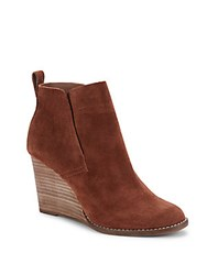 Lucky Brand Yoniana Leather Wedge Boots Chipmunk