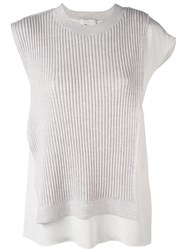 3.1 Phillip Lim Layered Ribbed Tank Top Grey