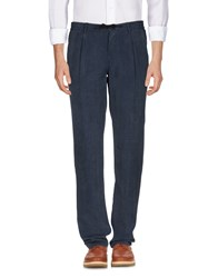Yoon Trousers Casual Trousers Dark Blue