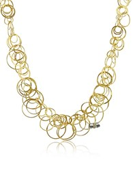 Orlando Orlandini Scintille Diamond 18K Yellow Gold Chain Necklace