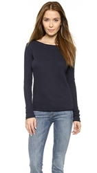 Mother The Skipper Sweatshirt Heather Navy