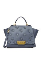 Zac Posen Eartha Iconic Soft Top Handle Floral Bag Blu