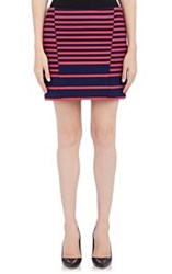 Thakoon Addition Mixed Stripe Miniskirt Colorless Size 8 Us