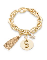 Rj Graziano S Initial Chain Link Charm Bracelet Gold