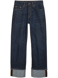 Burberry Relaxed Fit Marble Wash Jeans Blue