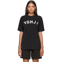 Y 3 Black And White Yohji Letters T Shirt