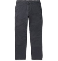 Nn.07 Nn07 Fred Stretch Cotton Twill Chinos Navy