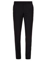 Burberry Stirling Slim Leg Wool Blend Trousers Navy