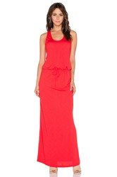 Lanston French Terry Racerback Maxi Dress Red