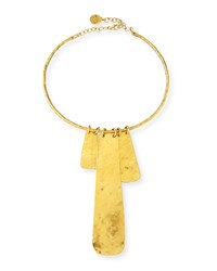 Gold Dipped Hammered Medallion Necklace Gold Devon Leigh